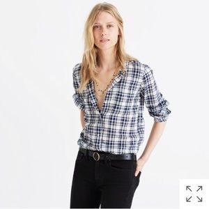 NWOT Madewell Slim Ex-boyfriend in Coltrane Plaid